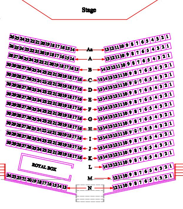 Istana Budaya seating layoutstyle=