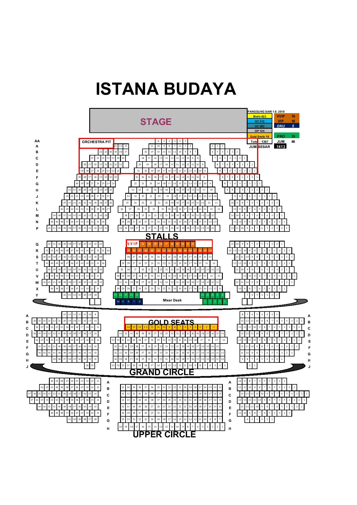 Istana Budaya seating layoutstyle=